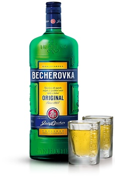 Becherovka (with or without tonic) = Prague. No comment.