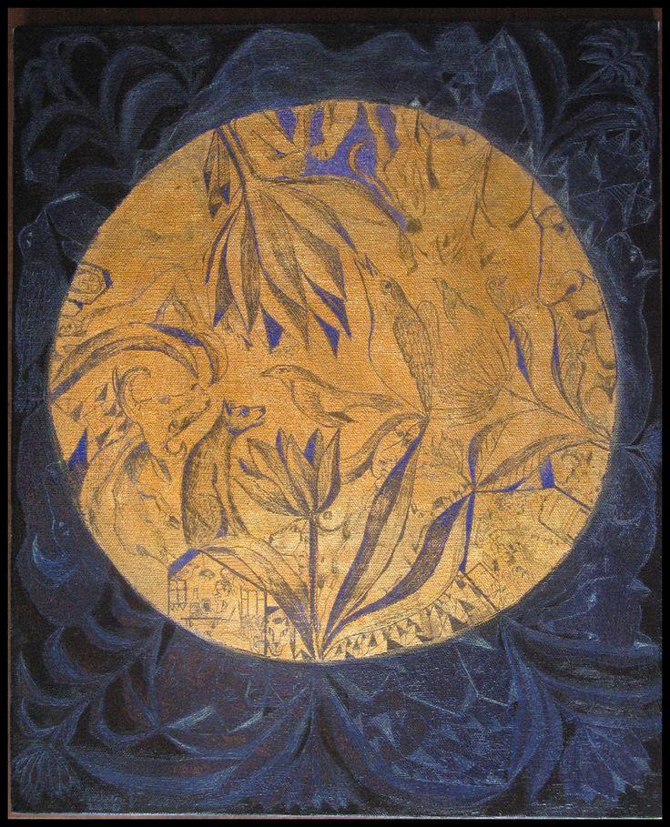 29.pictura.gravata.luna plina.7.acrilic.slagmetal.panza