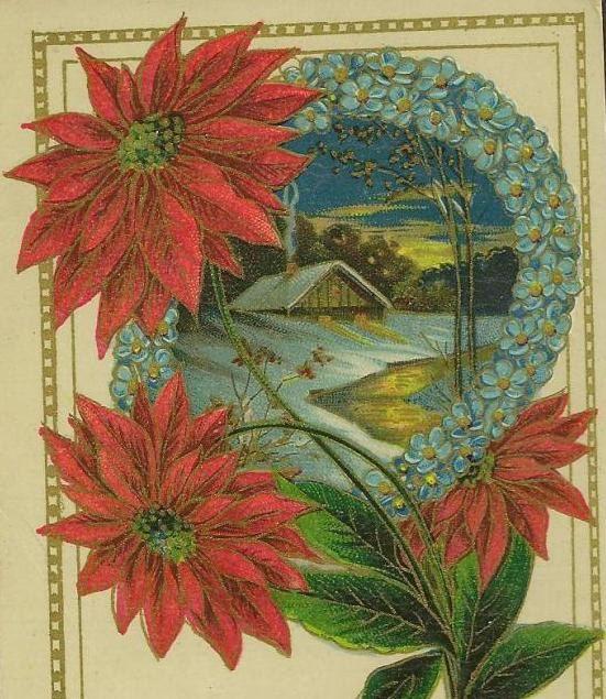 Vintage Christmas Postcard 1913 Mossley Ontario  by TheOldBarnDoor, $4.00