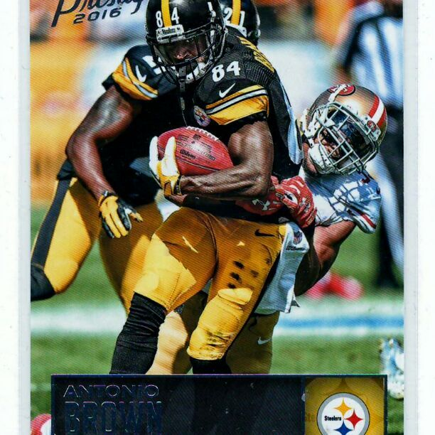 Antonio Brown 2016 Prestige - 2-Card Lot .. All cards in mint condition and stored properly .. (32)   Request combined shipping and get $2 discount for each additional card or card lot you purchase .. Just contact when you are ready to purchase or if you have questions ..    The pic images are scan image not stock photo .. The scan images will show any damage to sports cards .
