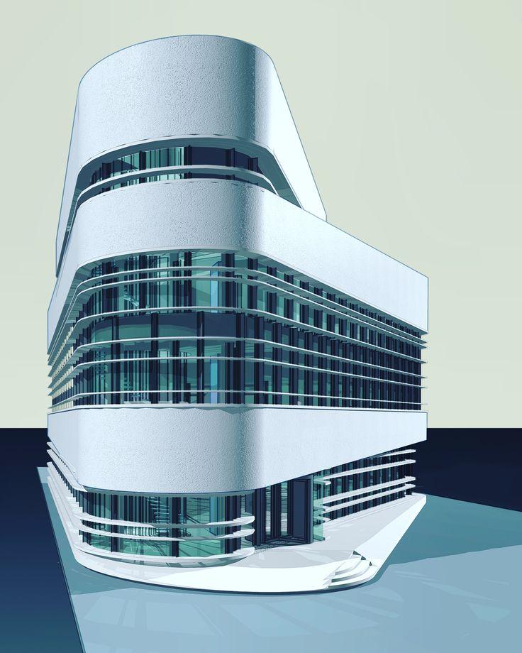 Design for an office building , Daniël van den Berg at EGM