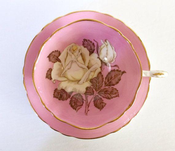 Paragon Rose Bone China Tea Cup & Saucer
