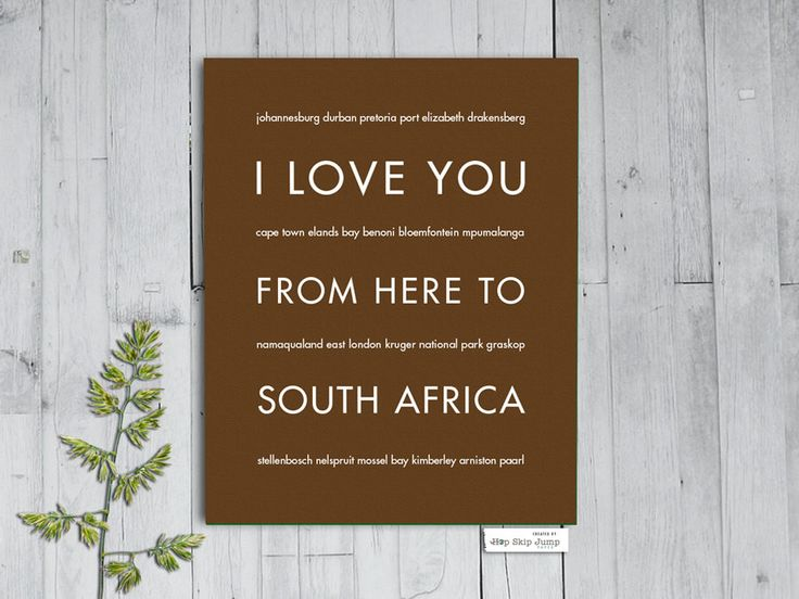 Whether you took a recent trip to Table Mountain or Robbin Island or you are a fan of Nelson Mandela, this South African travel poster is for you! Give a cultural gift for a friend's dorm room or an i