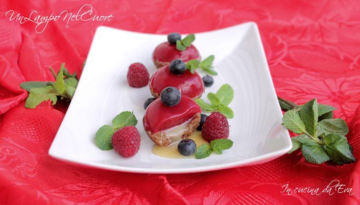 Crostatine con caramello salato e lamponi | per UnLampoNelCuore