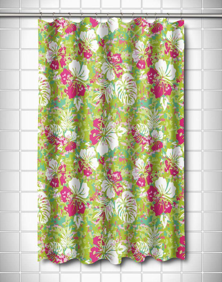 Key West Tropical Shower Curtain