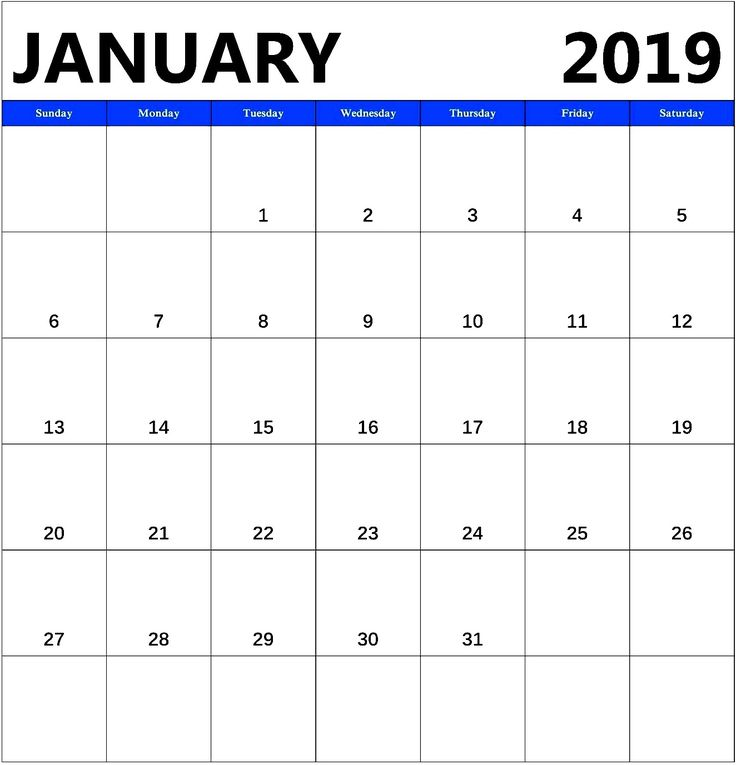 January 2019 Cute Calendar #january2019 #january