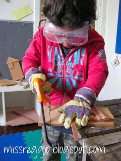 list of essential woodworking items | 'Miss Reggio' Blog : Woodworking /Carpentry With Children