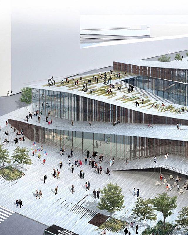 #architecture_hunter Design of the new Saint-Denis Pleyel Metro Station in…