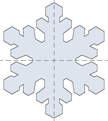 Snowflake template Más