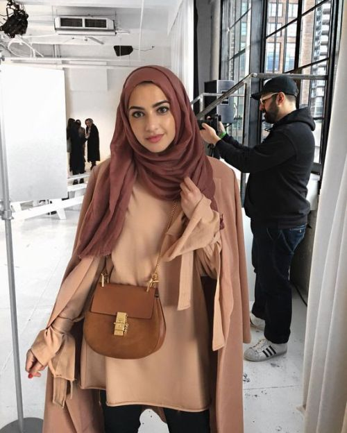 Tan camel hijab outfit-Winter stylish hijab collection – Just Trendy Girls