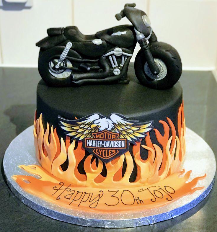 Harley davidson bike cake bike cakes cake desserts
