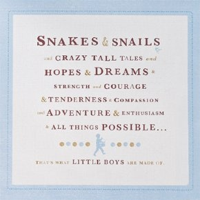Compendium - Canvas Art: What are Little Boys Made of?