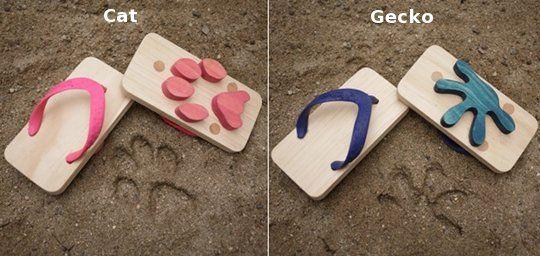 Cute! Ashiato Animal Footprint Kids Sandals