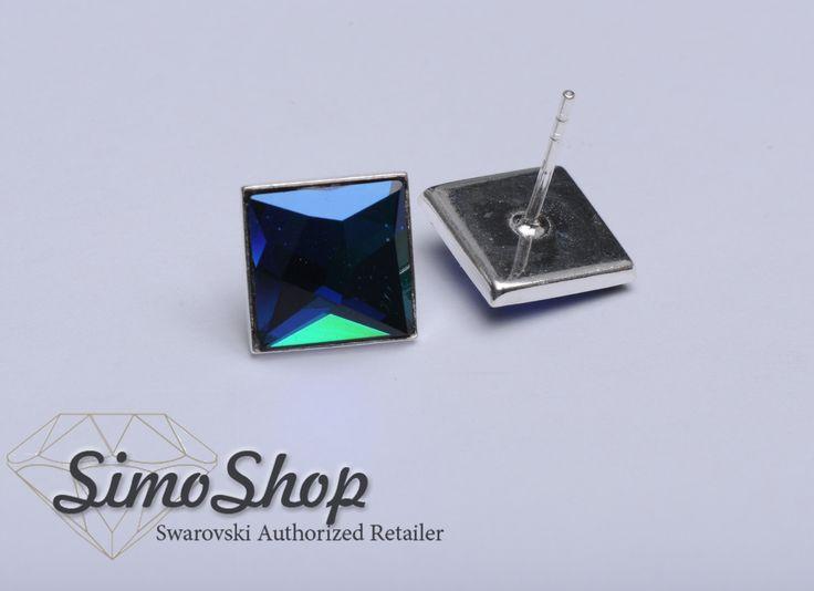 Cercei din argint 925 cu cristale swarovski. #simoshop #bijuterii #accesorii #argint #swarovskicrystals #swarovski
