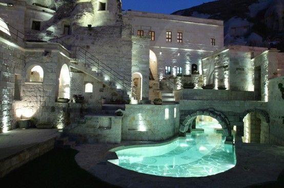 Moat indoor/outdoor pool. My dream!!!! No it was in a dream  www.blog.diggerlist.com