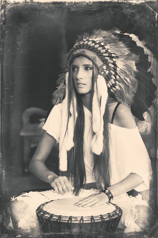 I SO want a pic of me like this!!! Im proud to be native american!! Indy Kate by Asya Vaylykh