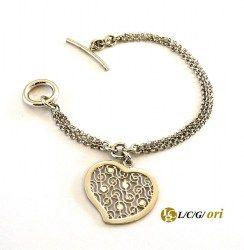 Bracciale cuore in argento 925