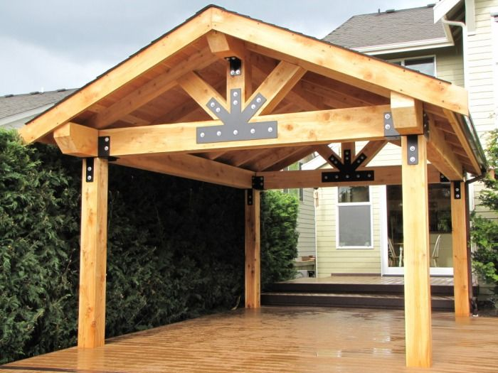 covered patio addition | lift it even custom welded and powder coated brackets can be laser cut ...