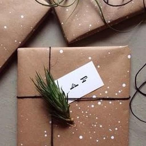 with brown paper :) #christmas #decor #holidays #diy #gift #ornamentation #gifts