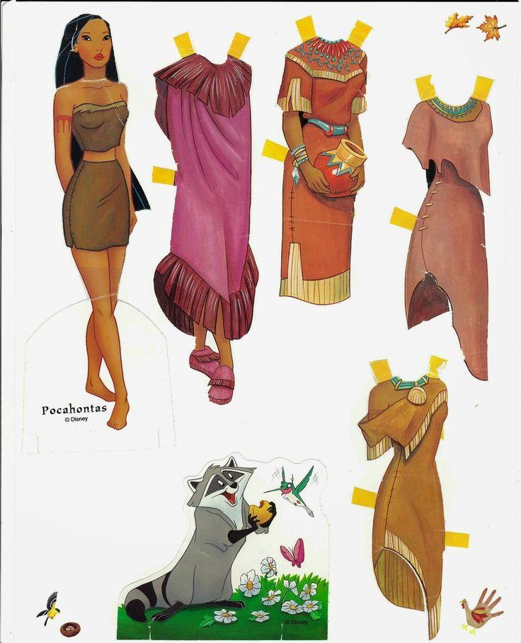 Figurettes - Zespół Aspergera lalki miniaturki zapiski Samotnej Mamy: Papierowe Lalki - Ksieżniczki Disney'a- Disney Paper Dolls