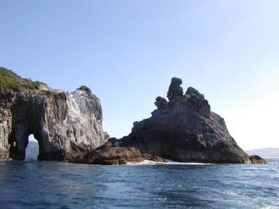 Rock formations at Great Barrier Island