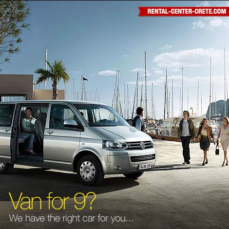Reserving a rental car for bigger families and parties is no longer a problem. Carry lots of bags and suitcases with the best people carrier in this category. Whatever you need, there's a Transporter for you  Book now the ‪#‎Volkswagen Transporter at Rental Center Crete Crete car hire​   ▶ http://www.rental-center-crete.com/cars/group-i/vw-transporter.html
