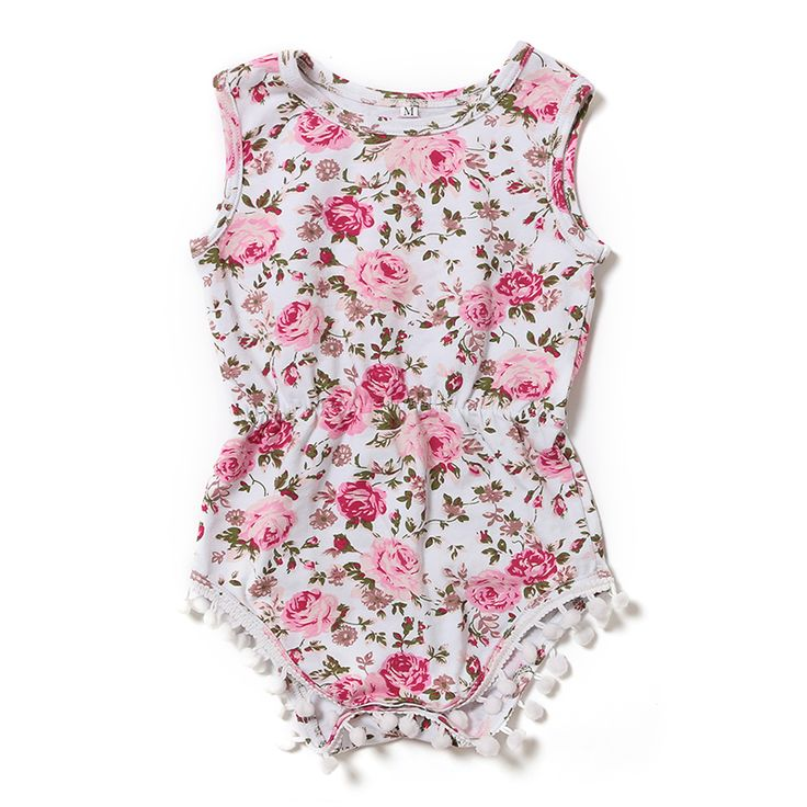 2016 Summer Newborn Girl Bodysuit Infant Clothing Newborn Boutique Clothes Baby Pink Floral Bodysuit Baby Clothing Bodysuits