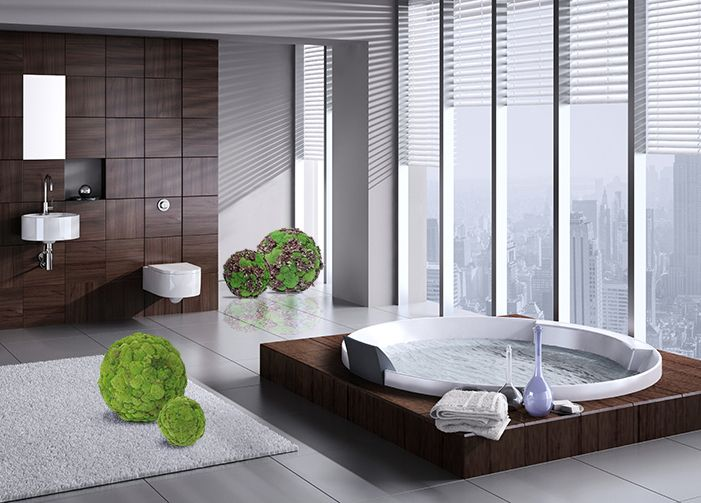 Stabilized #moss and lichen #spheres by #LinfaDecor #natural #green or with Hydrangea #flowers. #bathroom #house #home #decor #decoration #greendesign #flowerdesign #design #interiordesign #interior #architecture #casa #verde #sfere #decorazione #architettura #arredamento #luxuryhouse #luxury