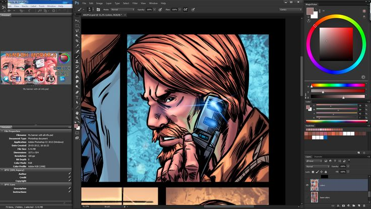 Hello from the other side- A preview of the current project im coloring. more updates soon ;) #Comics #MakeComics