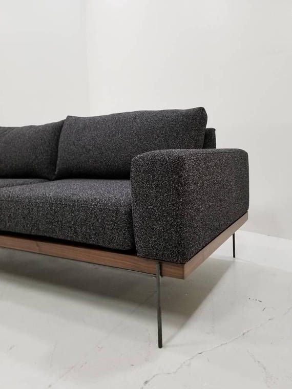Industrial Modern Mid Century Style Sofa | Window space in ...