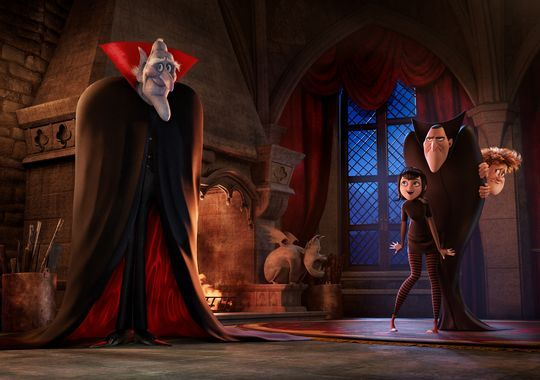 Vlad (voice of Mel Brooks, left) joins the sequel 'Hotel