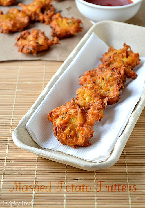 Spicy Treats: Mashed Potato Fritters ~ Vegan & Gluten Free – go together even quicker when you start with Idahoan Mashed Potatoes!