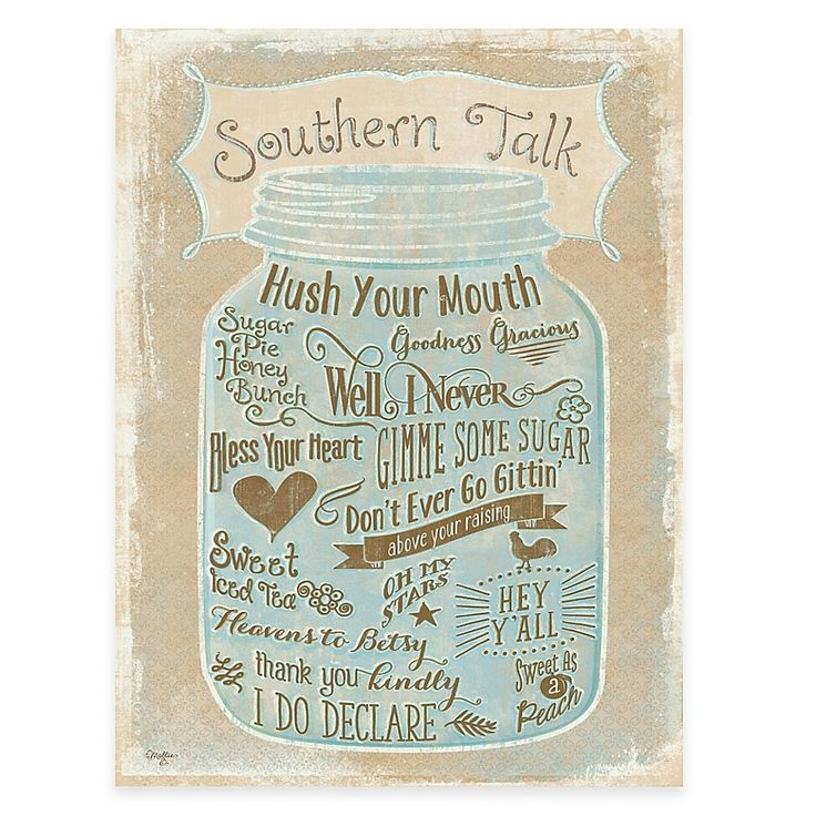 Courtside market southern talk gallery canvas wall art in