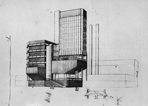 James Stirling, Leicester University Faculty of Engineering, Leicester, England, 1959