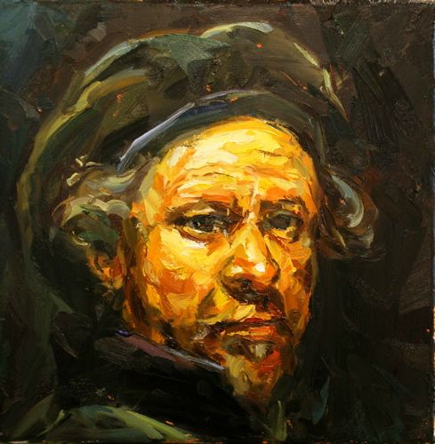 Paul Wright Self Portrait after Rembrandt - 2010 - Oil on linen