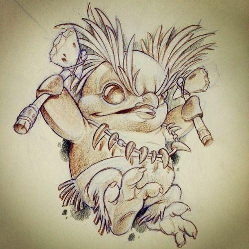 #penguin #eyebrows #tomahawk #newschool #cartoon #sketch # ...