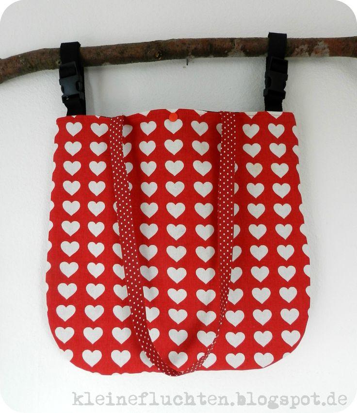 Steckschlösser an Kinderwagentasche! Idee:kleine fluchten