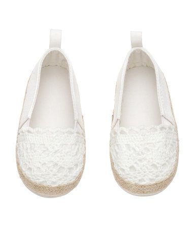 Espadrilles with elastic gores in the sides, cotton linings and insoles and…