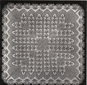Vintage knitting pattern- intricate square baby christening shawl.....