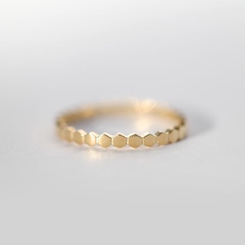 Sterling Silver<br>Honey Comb Ring