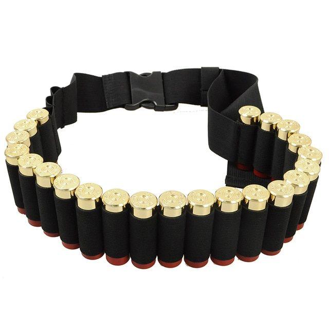 Military Shotgun 27 Ammo Shells Belt Cartridge Carrier Bullet Ammo Holder Shoot