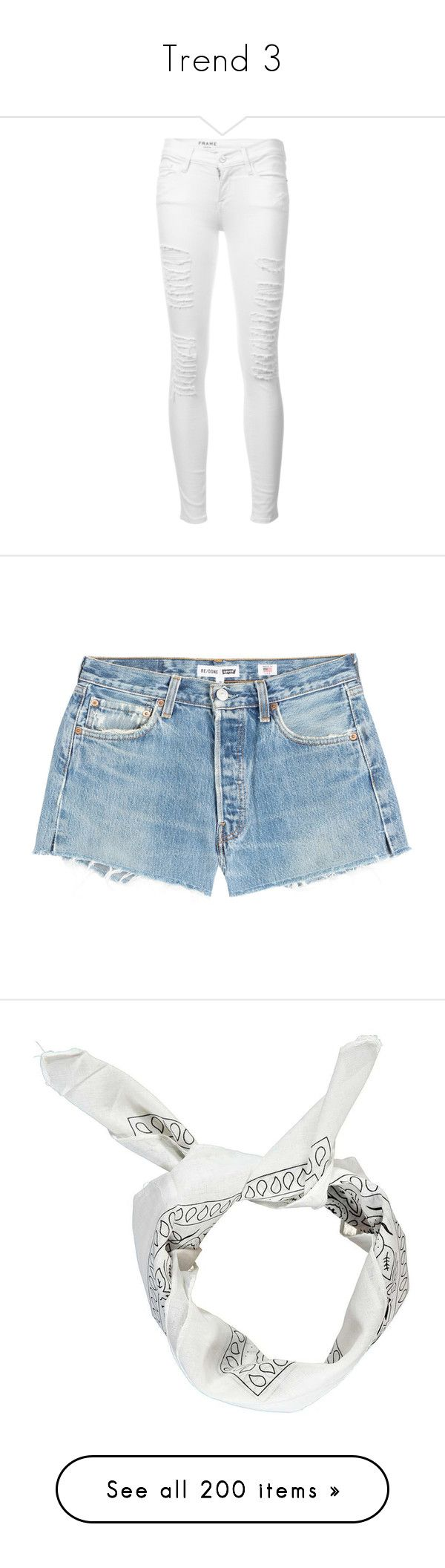 """""""Trend 3"""" by qveenkandie ❤ liked on Polyvore featuring jeans, pants, bottoms, calças, white, ripped jeans, white skinny jeans, destroyed skinny jeans, white cropped skinny jeans and white ripped skinny jeans"""