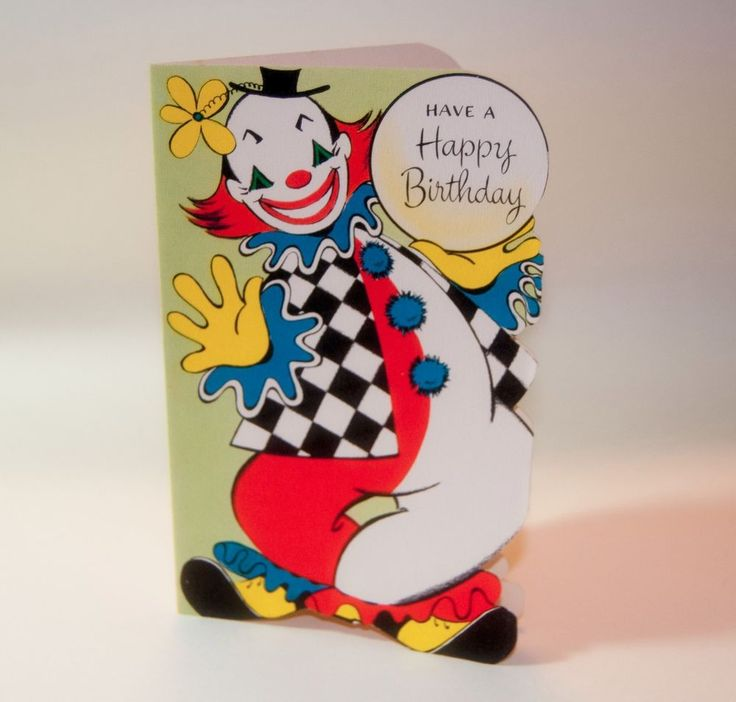 80 best Vintage Clown Cards images – Clown Birthday Cards