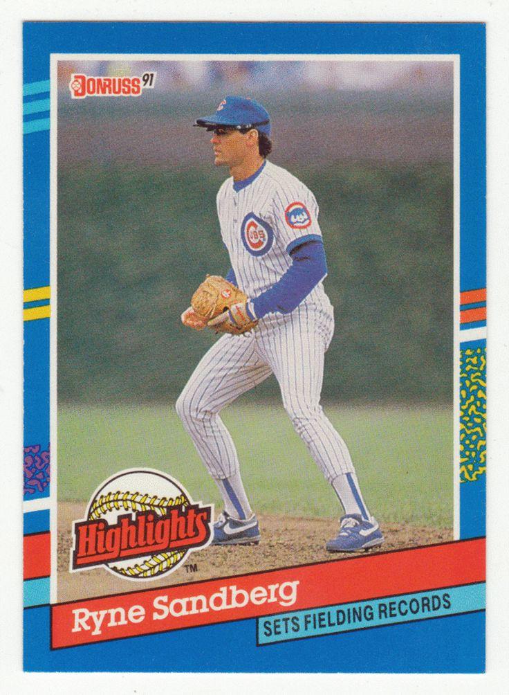 Ryne Sandberg BC 7 1991 Donruss Baseball Bonus Cards