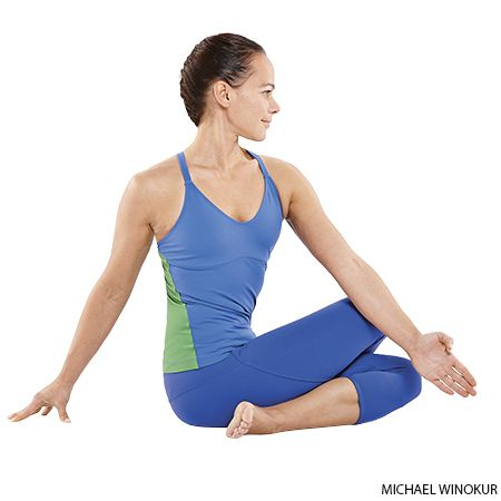 Cow Face Pose Variation or Gomukhasana