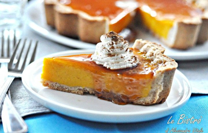 Pumpkin Pie alla cannella e caramello, ricetta dolce
