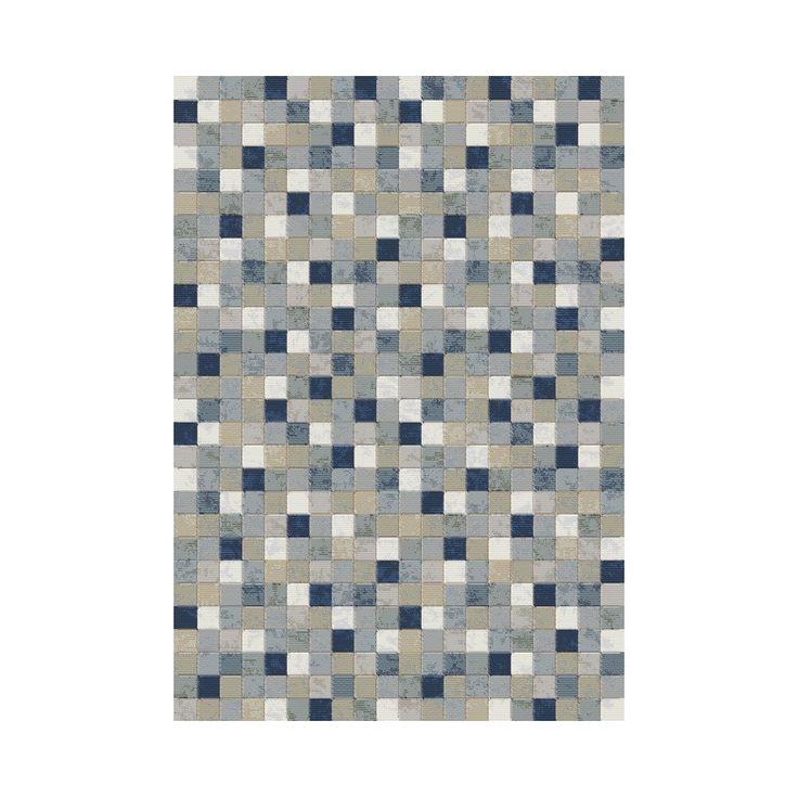 Dynamic Rugs Twilight Multi Blue Area Rug X Size Polypropylene Geometric