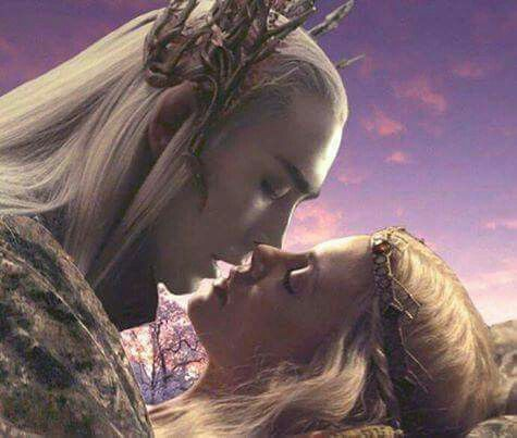 Fanart of Thranduil and Legolas' mother
