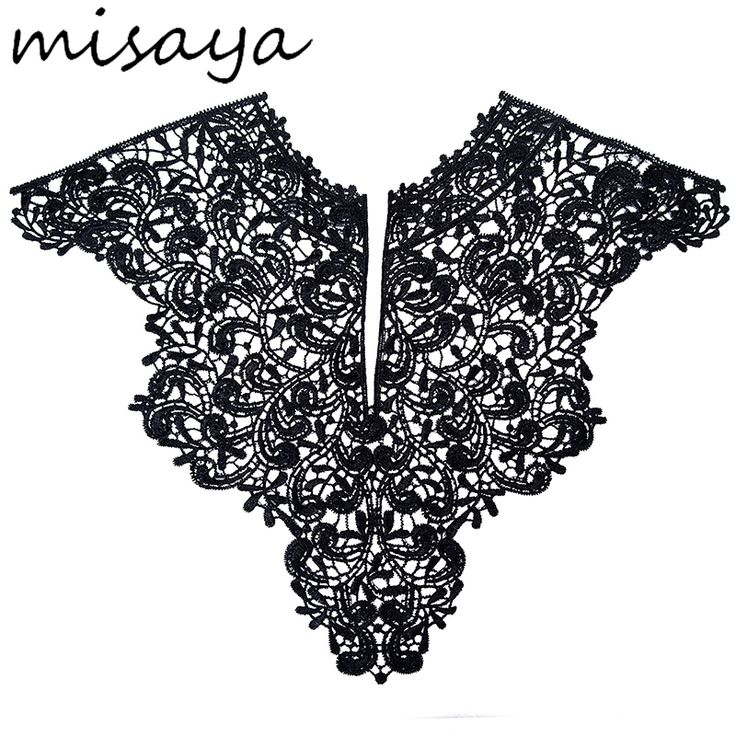 2.23$  Buy here - Misaya 1pc Polyester Big V Neck 4 Colors Lace Collar Fabric,DIY handmade Wedding Dress Collar Lace For Sewing Supplies Crafts   #aliexpress
