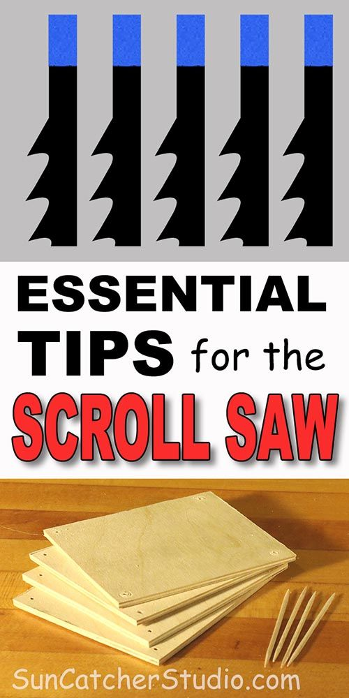DIY Woodworking Ideas Scroll Saw blades, stack cutting, lighting, and other tips including safety, buy...